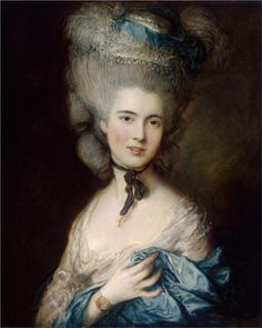 Thomas Gainesborough (1727-1788)   A Woman in Blue (Portrait of the Duchess of Beaufort)         Hermitage