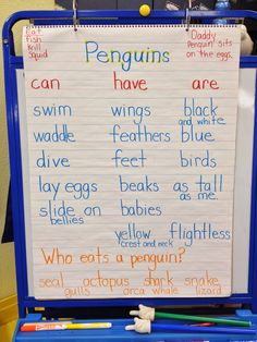 Good topic starter idea that could be added to as we learn more about the animals.
