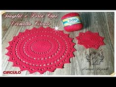 Crochet Baby, Knit Crochet, Step By Step Crochet, Placemat Sets, Crochet Videos, T Shirt Yarn, Crochet Accessories, Crochet Designs, Crochet Doilies
