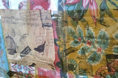So today we're exploring turning Collage Tissue into paper.   To do that you need to coat the Collage Tissue with a product.  I tried a f...