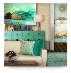 """Mermaid Decor"" by debraelizabeth ❤ liked on Polyvore featuring art"