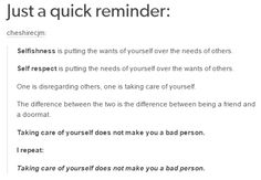THIS IS SO IMPORTANT! I didn't realize this for a long time and it's been really bad for me