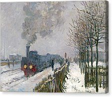 A wonderful poster of the Claude Monet painting entitled Train in the Snow! A classic piece of Impressionist art. Check out the rest of our fabulous selection of Claude Monet Monet Paintings, Impressionist Paintings, Landscape Paintings, Claude Monet, Pierre Auguste Renoir, Artist Monet, Kunst Poster, Painting Snow, Snow Art