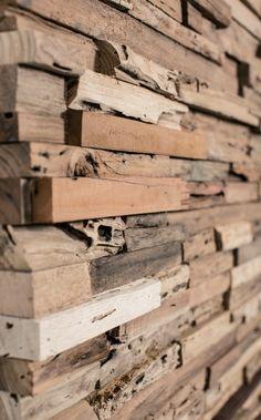 Massivholz Wandverkleidung innen rustikal modern W