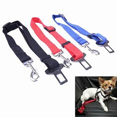 Voberry Pet Dog Adjustable Car Automotive Seat Safety Belt Vehicle Seatbelt Leash Lead Travel for Small  Medium  Large Dogscats Blue * Learn more by visiting the image link. (This is an affiliate link) #DogsCarTravelAccessories