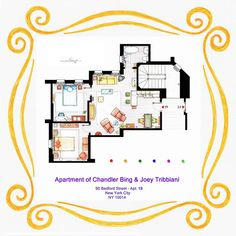 tastefullyoffensive: Floor Plans of Famous TV...