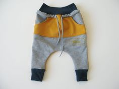 Unisex kids Harem Pants with Kangaroo Pocket Dropped door Muzeak, $39.00