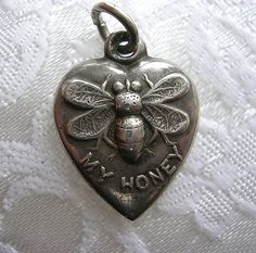 Vintage 1940's Sterling Puffy Heart Charm by thevintageheart, via Flickr