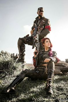 4RIDERS / wasteland couple / post apocalyptic cosplay / LARP / Mad Max / wasteland warriors