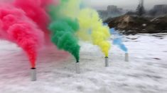 Unique Colored Smoke Bombs Target