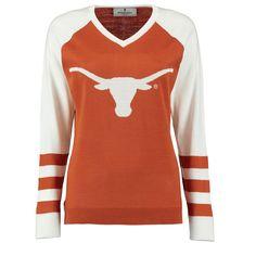 Texas Longhorns Women's Logo V-Neck Sweater - Texas Orange - $67.99
