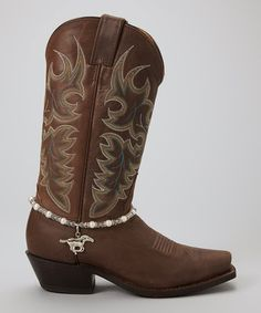 Silver Pearl Running Horse Boot Chain by Rhinestone Junkie