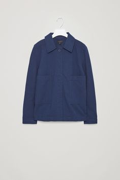 COS | Pleated cotton blazer with button back