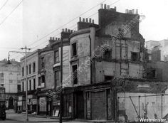 98-104 Harrow Road • 1951 Old London, West London, Old Pictures, Old Photos, Maida Vale, Slums, London Life, London Photos, Local History