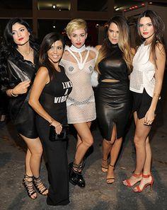 Miley Cyrus Sports Black Nipple Pasties Alongside Kardashian Sisters at iHeart Radio Festival