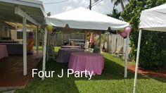 Rent a tent 10 x 20 with a free light and a free fan  www.fourjparty.com  #fourjparty #bounce #tent #decoration #waterslide #party