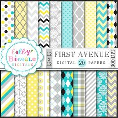 First Avenue Papers - beautiful digital papers for scrapbooking, invitations and more.