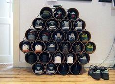 Shoe storage ideas.  Geniale Dinge, die dir dabei helfen Schuhe platzsparend aufzubewahren - Viele sind sogar ganz einfach nachbauen