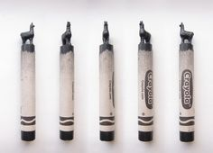 Black llama carved crayon. There are more crayons on my Tumblr and check out my shop.