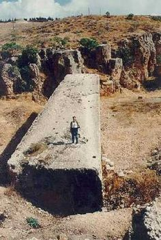 Baalbek - Lebanon. Some foundations stones are as much as 1200 tons. Now just how on earth did they move them?