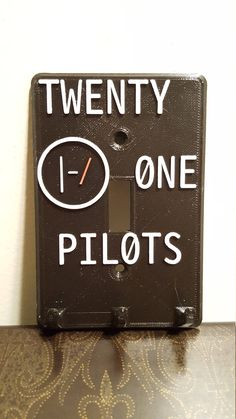 Twenty One Pilots Fantasy Art Hand Painted Light Switch Plate with Hooks by TreasureChestLoot on Etsy
