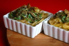 baked spinach and pasta with a creamy roasted garlic sauce