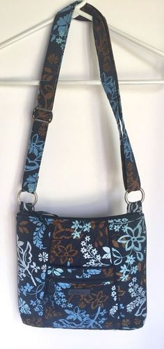 5c4e10edf82d Vera Bradley Hipster Purse Cross body Quilted Java Floral Used  VeraBradley   Crossbody Hipster Purse