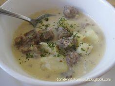Some Kind of Delicious: Cheesy Potato & Italian Sausage Soup