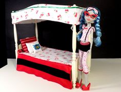 Reserved for CGSC Monster High Custom Ghoulia Canopy by LuceasLoot, $39.99