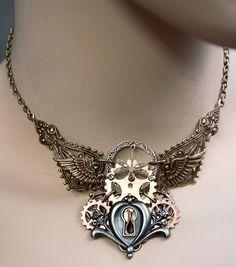 Dis.2013 keyhole gear necklace by ~Pinkabsinthe on deviantART