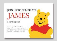 Winnie the Pooh Birthday Invitation  Custom Printable