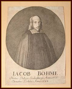 Early rare portrait of Jacob Boehme