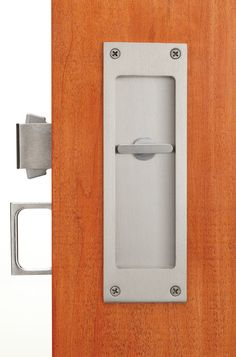 Privacy. Accurate lock company has skillfully solved the problem of privacy and pocket doors with its mortise pocket lockset.