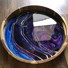 Round Acacia Trays — Kathryn Beals Serving Tray Wood, Natural Line, Acacia Wood, Custom Wood, Resin Art, Diy Painting, Cleaning Wipes, Round Tray, Trays