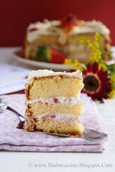 Shab's Cuisine: Strawberry Cream Gateaux