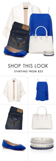 """""""Untitled #5504"""" by cassandra-cafone-wright ❤ liked on Polyvore featuring Elie Saab, TIBI, Hollister Co., Prada, Sam Edelman and River Island"""