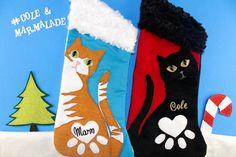 ★ Pack of Two ★ Custom Cat Stockings