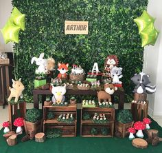Safari Party, Fox Party, Woodland Party, Woodland Theme, Party Animals, Animal Party, Wild One Birthday Party, Baby Boy 1st Birthday, Twins 1st Birthdays