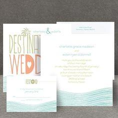 destination waves wedding invitation