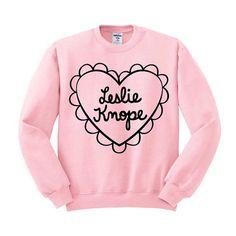 Leslie Knope Heart Crewneck Sweater by TeesAndTankYouShop on Etsy