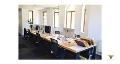 Office spaces , timber and steel Office Spaces, Space Furniture, Conference Room, Steel, Table, Design, Home Decor, Homemade Home Decor, Meeting Rooms