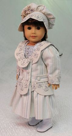 MHD Designs - 1904 Coat and Hat - Fashion Pattern for 18 Inch American Girl Dolls