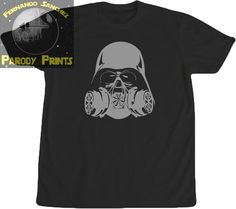 Vader Gas Mask T Shirt by ParodyPrints on Etsy