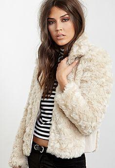 Buckled Faux Fur Jacket | FOREVER21 - 2000119309