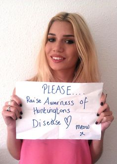 awareness for Huntington's disease by Tabby Richards Huntington Disease, Social Media Site, Blue Ribbon, The Cure, Celebrities, Celebs, Famous People, Celebrity