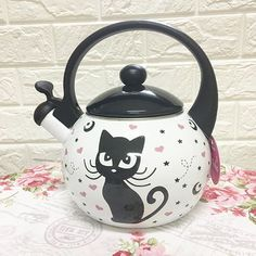 Instagram Widget, Kettles, Tea Sets, Kawaii, Kitchen, Altered Tins, Little Kitty, Teapot, Kitchens