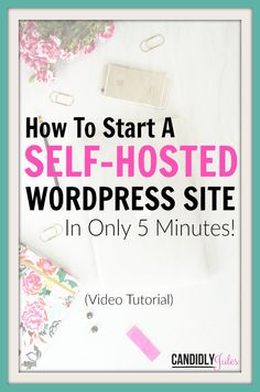 """Start a self-hosted Wordpress site in under 5 minutes with this step-by-step video tutorial! No more excuses folks, it's time to stop """"renting"""" and make sure you OWN your website!"""