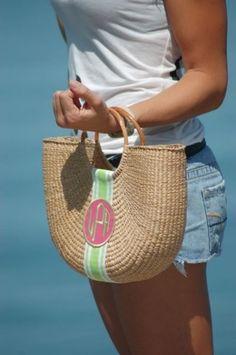 Preppy Half Moon Beach Basket Handbag, $98.00 (http://www.purseladytoo.com/qbs-half-moon-beach-basket-handbag/)
