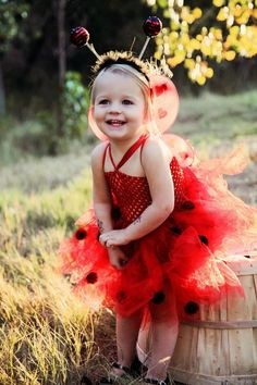 Lady Bug tutu dress with matching antenna by SunshinesTutus, $40.00