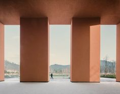 China Architecture, Religious Architecture, Public Architecture, Colour Architecture, Stairs Architecture, David Chipperfield Architecture, Architecture Religieuse, Covered Walkway, New Retro Wave